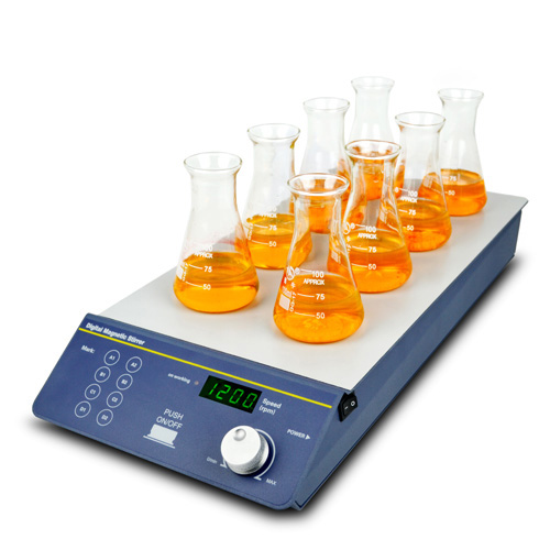 Magnetic Stirrer, Multi-position (8 positions) | BT Lab Systems