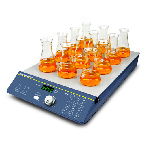 Magnetic Stirrer, Multi-position (12 positions) | BT Lab Systems