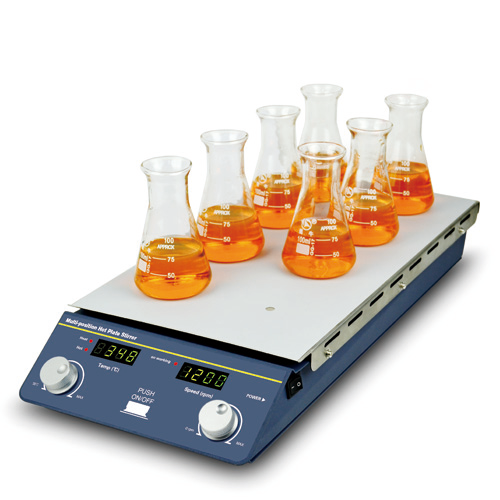 Hot Plate Stirrer, Multi-position (8 positions) | BT Lab Systems