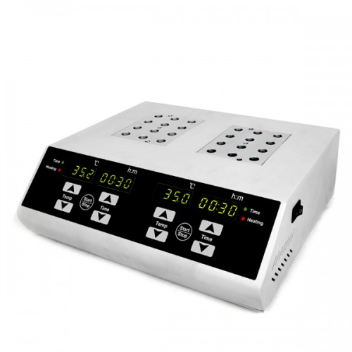 Dry Bath Incubator, Individually Controlled Dual Blocks